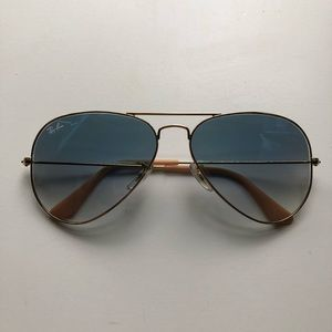 Rayban Light Blue Gradient Aviators